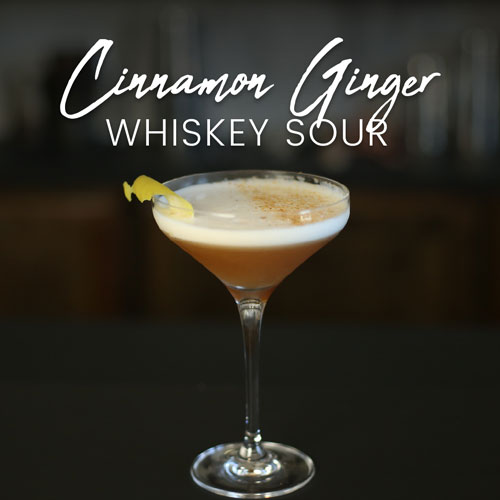 Cinnamon Ginger Whiskey Sour