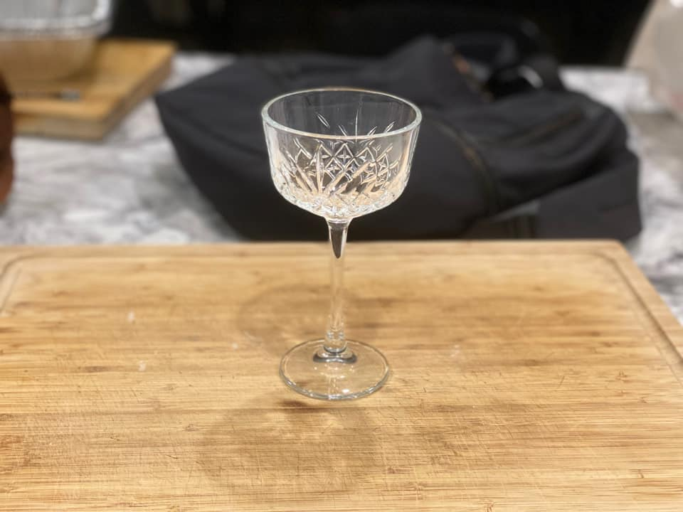 A beautiful crystal glass coupe